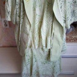 Zarif üç parça elbise 50 boyutu