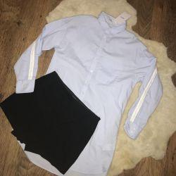 Новые юбка-шорты и рубашка