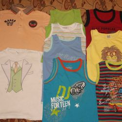 T-shirts and T-shirts r. 116-122