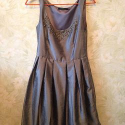 Серебристое платье befree