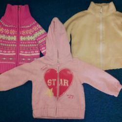 Τα πράγματα ένα πακέτο για ένα κορίτσι των hoodies για 1-1,5 χρόνια