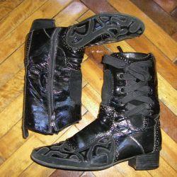 Çizme yüksek deri çizme