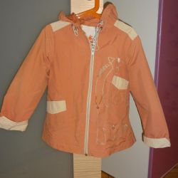 The raincoat for the girl cotton, size 110-116