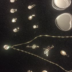 Chain silver and pendants