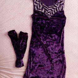 Φόρεμα το βελούδο μοβ