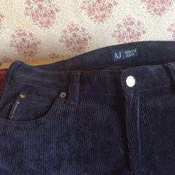 Jeans for men Armani dark gray thin