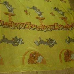 Κουρτίνες στο παιδικό δωμάτιο Tom & Jerry