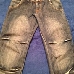Детские зимние джинсы на флисе