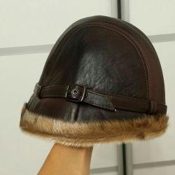 Δερμάτινο καπέλο