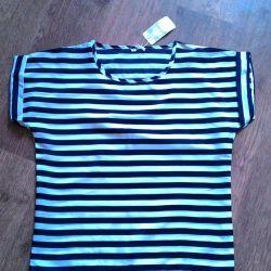 Νέο με μπλούζα ετικέτας μεγέθους 44