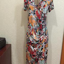 Color wrap dress
