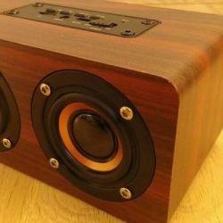Wireless bluetooth speaker, wood ?