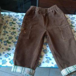 Çocuk için kadife pantolon