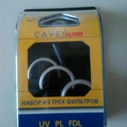 Lens için bir dizi filtre