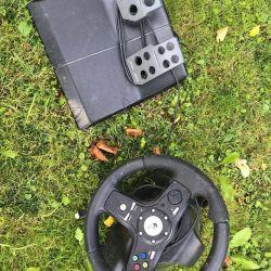 Oyun konsolu ve pedallar