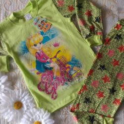 Pajamas for a girl of 4-8 years
