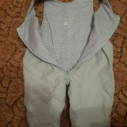 Set jacket and overalls 74p.