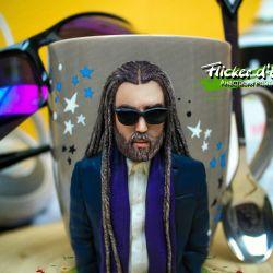 Decor mugs made of polymer clay. Decl. Cartoon