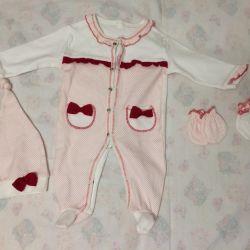 Suit for children 2-5 months. slip