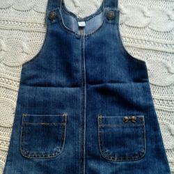 Jeans sarafan.