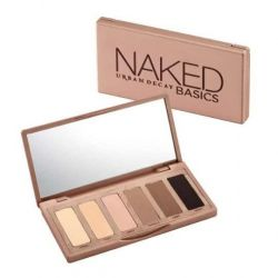 A palette of 6 shades of eye shadow naked basics