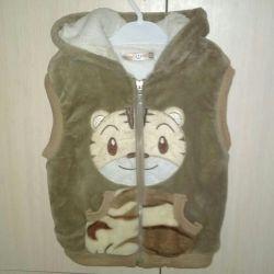 Soft plush waistcoat