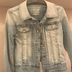 Zara denim jacket and jeans