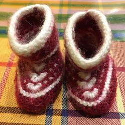Шерстяные пинетки/носочки детские