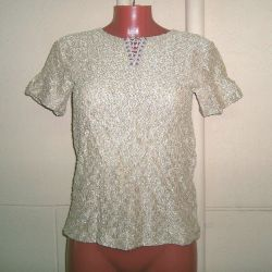 T-shirt boucle golden