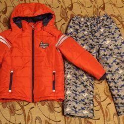Демисезонная куртка и штаны р. 116
