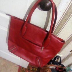 Τσάντα κόκκινο + τσαλα