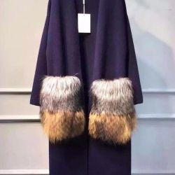 New stylish cardigan pockets (fox nat. Fur)