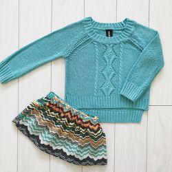Acoola pulover, mărimea 98 și fusta