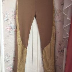 Продам штаны с кожаными вставками