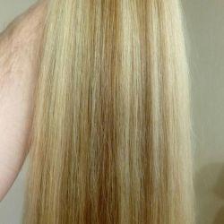 Light brown 72 cm of hair