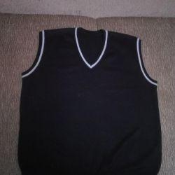 The vest is man's, a school uniform of school 12 of Chelyabinsk