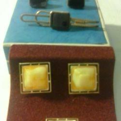 Наборы запонки и булавки для галстука