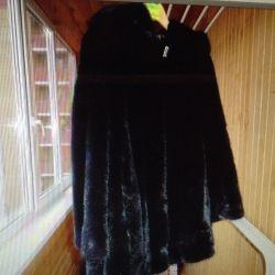 vizon ceket, katı, siyah