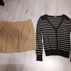 Skirt and cardigan 48 rub.