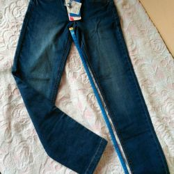 New jeans for girls, size 152.