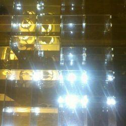 Glass shelf. Mirror.