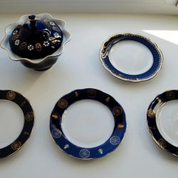 Cobalt dishes. Korosten. Vintage
