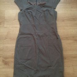 Lined dress with zip