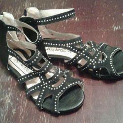 Sandale pentru fete de piele
