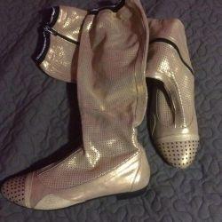 Nat μπότες δέρματος