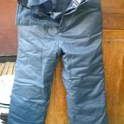 Зимние ватные штаны