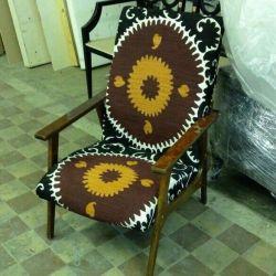 Кресло винтажное восточное. Восточный ковер килим
