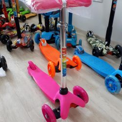 New mini pink scooter, etc.