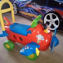 Αναπηρική καρέκλα Pushkar Kiddieland Αεροπλάνο Mickey Mouse