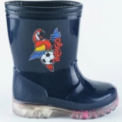 Backlit rubber boots INDIGO
